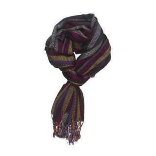 In-Sattva Colors Vertical Stripes Scarf Stole Wrap