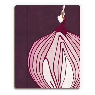 'Large Sliced Onion Purple' Wood Wall Art Print