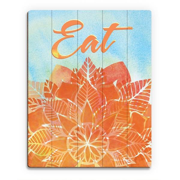 'Watercolor Eatery Amber' Birchwood Wall Art Print