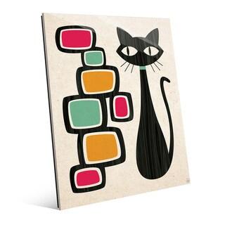 Retro Cat with Bubbles Acrylic Print Wall Art