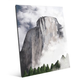 'Rock Face Spring' Acrylic Wall Art Print