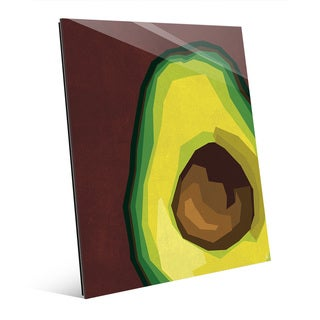 Large Sliced Avocado Red Acrylic Wall Art Print