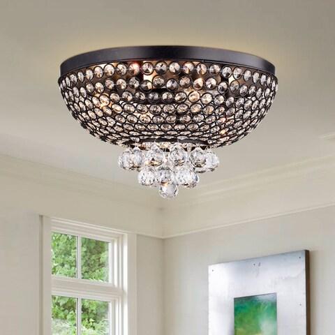 Drimil Antique Bronze Crystal Ceiling Lamp