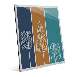 Flat Amber Pine Glass-Printed Wall Art