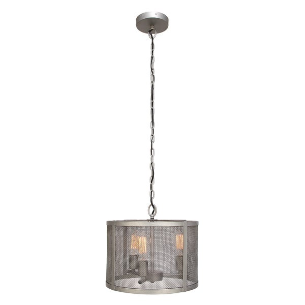 Urban Designs Grey Metal Webbing 3-Light Pendant Light