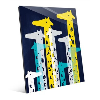 'Giraffe Social' Main Glass Wall Art Print