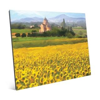 'Provence Sunflowers' Glass Wall Art Print
