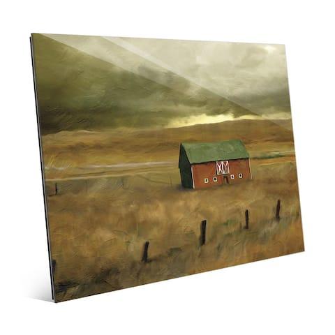 'Old Barn' Glass Wall Art Print