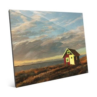 'Norway Shack' Glass Wall Art Print