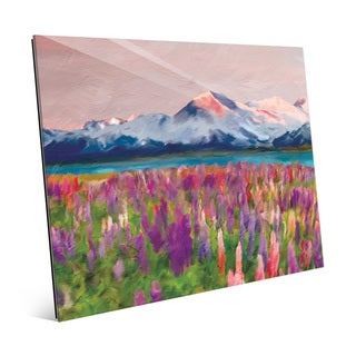 Colorful Wildflowers Glass Wall Art Print