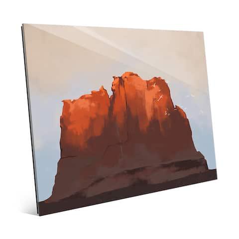 Southwest Sunset Glass Wall Art Print