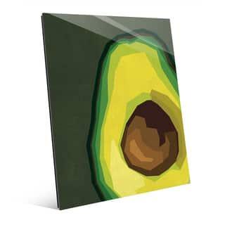Large Sliced Avocado Green Glass Wall Art Print|https://ak1.ostkcdn.com/images/products/14081167/P20692256.jpg?impolicy=medium