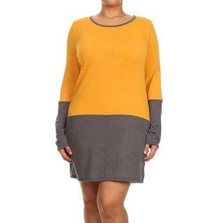 A Plus Style Women's Colorblock Sheath Tunic