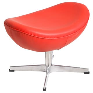 MLF Egg Chair's Ottoman, Red