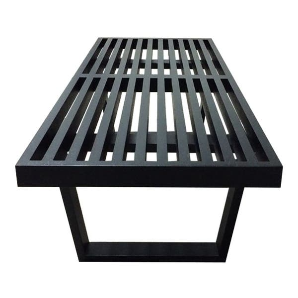 Pleasing Shop Mlf Nelson Platform Bench Free Shipping Today Gmtry Best Dining Table And Chair Ideas Images Gmtryco