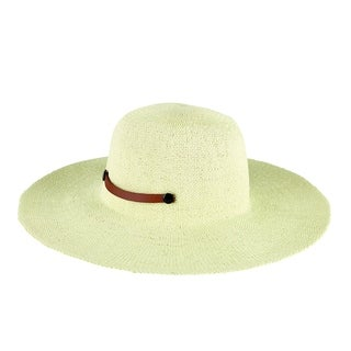 Women's San Diego Hat Company Packable Paper Sun Brim Hat with Tab PBL3079 Ivory