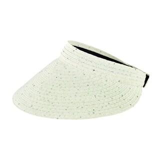 Women's San Diego Hat Company Ultrabraid Large Bill Visor PBV009 White