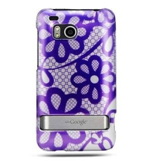 Insten Hard Snap-on Rubberized Matte Case Cover with Stand For HTC ThunderBolt 4G