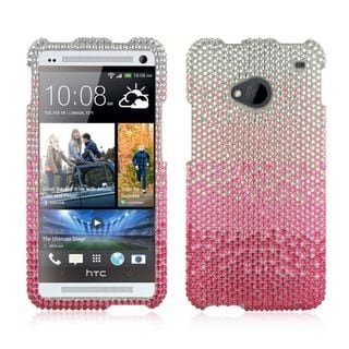 Insten Hard Snap-on Rhinestone Bling Case Cover For HTC One M7