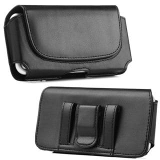 Insten Black Leather Case Cover with Belt Clip For HTC One M7