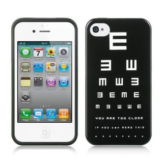 Insten Black/ White Hard Snap-on Rubberized Matte Case Cover For Apple iPhone 4/ 4S