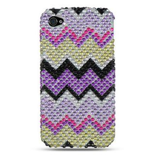 Insten Colorful Hard Snap-on Diamond Bling Case Cover For Apple iPhone 4/ 4S