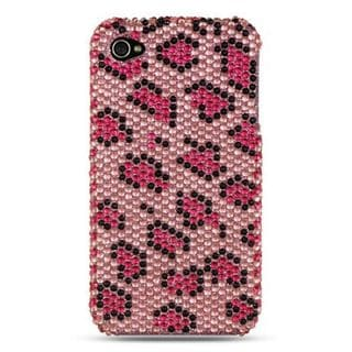 Insten Pink Hard Snap-on Diamond Bling Case Cover For Apple iPhone 4/ 4S