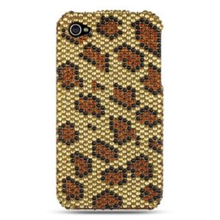 Insten Gold Hard Snap-on Diamond Bling Case Cover For Apple iPhone 4