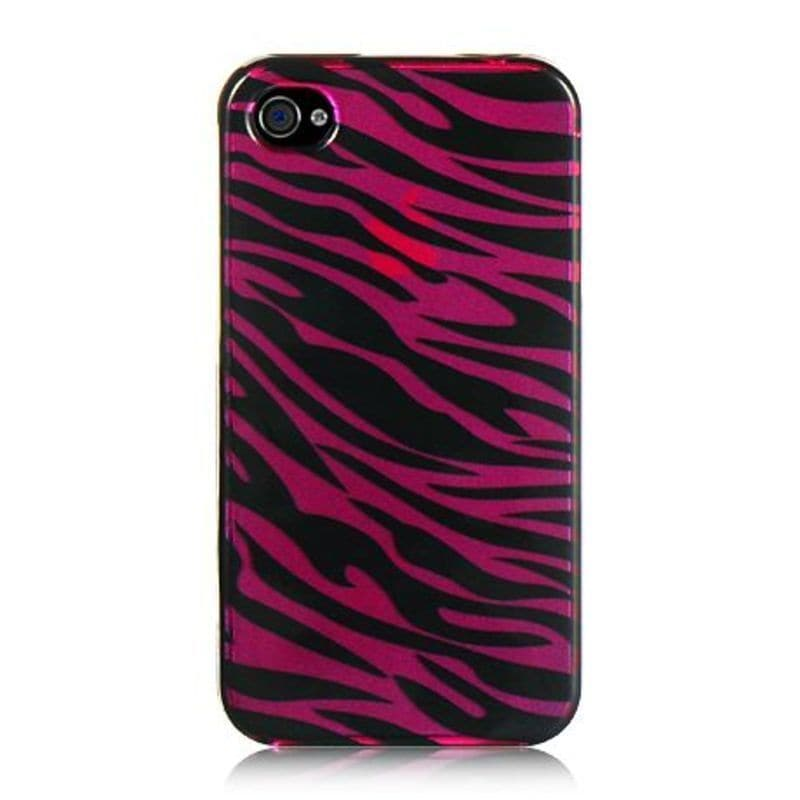 Insten Hot Pink/ Black Hard Snap-on Rubberized Matte Case...