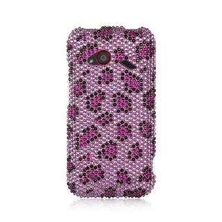 Insten Purple/ Pink Hard Snap-on Diamond Bling Case Cover For HTC Droid Incredible (LTE version)