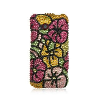 Insten Colorful Hard Snap-on Rhinestone Bling Case Cover For HTC Droid Incredible (LTE version)