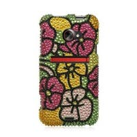 Insten Colorful Hard Snap-on Diamond Bling Case Cover For HTC EVO (LTE version)