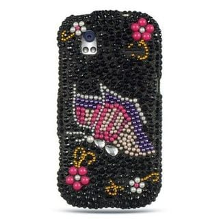 Insten Black/ Pink 3D Hard Snap-on Rhinestone Bling Case Cover For HTC Amaze 4G
