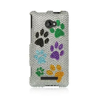 Insten Colorful Hard Snap-on Rhinestone Bling Case Cover For HTC Windows Phone 8X