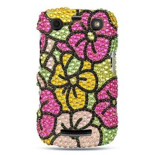 Insten Colorful Hard Snap-on Diamond Bling Case Cover For BlackBerry Curve 9360