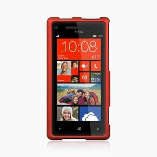 Insten Red Hard Snap-on Rubberized Matte Case Cover For HTC Windows Phone 8X