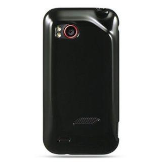 Insten Black TPU Rubber Candy Skin Case Cover For HTC Rezound / Vigor