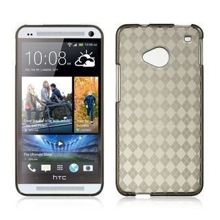 Insten Smoke TPU Rubber Candy Skin Case Cover For HTC One M7