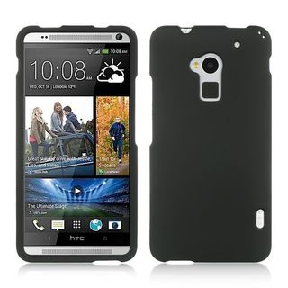 Insten Black Hard Snap-on Rubberized Matte Case Cover For HTC One Max