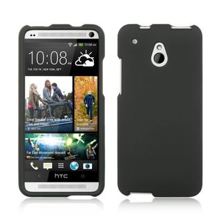 Insten Black Hard Snap-on Rubberized Matte Case Cover For HTC One Mini