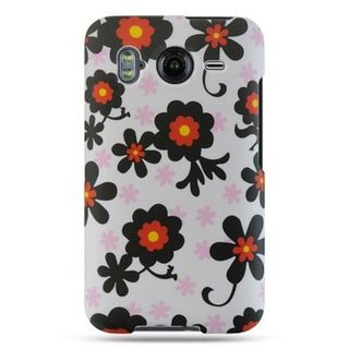 Insten White/ Black Hard Snap-on Rubberized Matte Case Cover For HTC Inspire 4G