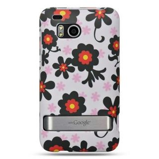 Insten White/ Black Hard Snap-on Rubberized Matte Case Cover For HTC ThunderBolt 4G