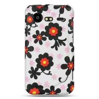 Insten White/ Black Hard Snap-on Rubberized Matte Case Cover For HTC Droid Incredible 2 6350