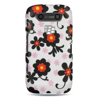 Insten White/ Black Hard Snap-on Rubberized Matte Case Cover For BlackBerry Torch 9850/ 9860