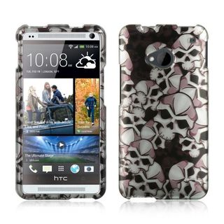 Insten Black/ White Hard Snap-on Rubberized Matte Case Cover For HTC One M7