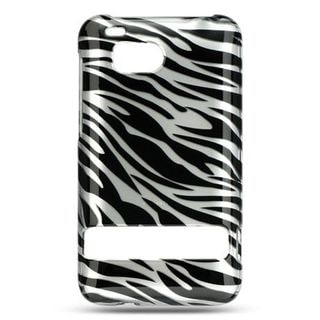Insten Silver/ Black Hard Snap-on Case Cover For HTC ThunderBolt 4G
