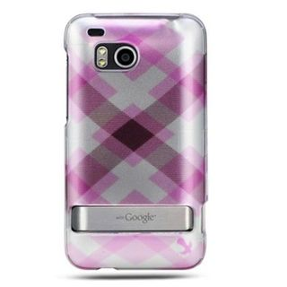 Insten Pink/ Silver Hard Snap-on Rubberized Matte Case Cover For HTC ThunderBolt 4G