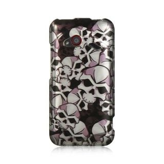 Insten Black/ White Hard Snap-on Rubberized Matte Case Cover For HTC Droid Incredible (LTE version)