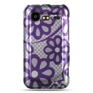 Insten Purple Hard Snap-on Rubberized Matte Case Cover For HTC Droid Incredible 2 6350