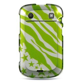 Insten Green/ White Hard Snap-on Rubberized Matte Case Cover For BlackBerry Bold Touch 9900/ 9930